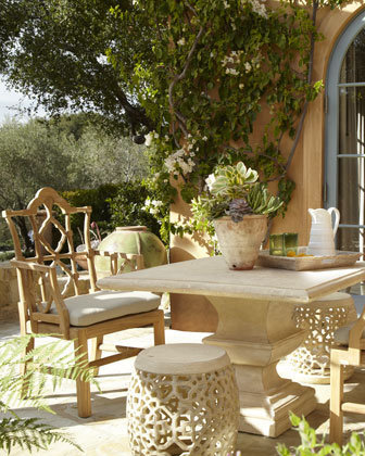 Outdoor Table, Armchair, &amp; Garden Seat - Neiman Marcus