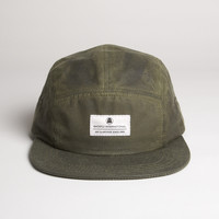 Waxed Cotton Camp Cap - Olive