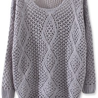 Gorgeous Diamond Crochet Sweater - OASAP.com