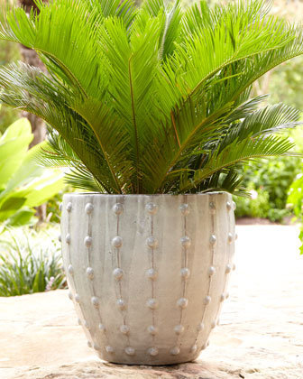 Gray Studded Planter - Neiman Marcus