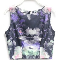 Street Art Floral Cropped Tank - OASAP.com