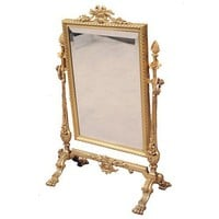 19th Century French Standing Vanity Mirror | nyshowplace.com