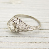 .99 Carat Old European Cut Vintage Engagement Ring | Shop | Erstwhile Jewelry Co.