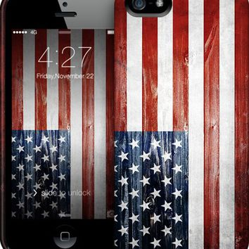 American Wooden Flag iPhone by Nicklas Gustafsson | Nuvango