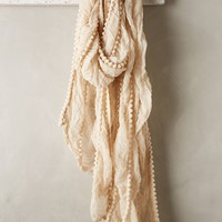 Crinkled Pom Scarf by Anthropologie