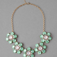 COLLINA FLORAL STATEMENT NECKLACE
