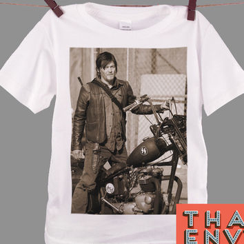 Norman Reedus Kids T Shirt - Zombie Apocalyptic Movie T Shirts