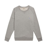 R-NECK SWEATER with tricolor patch Maison Kitsuné Shop