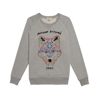 R-NECK SWEATER 3 D FOX Maison Kitsuné Shop