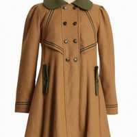 charlotte wool coat in camel by Dear Creatures