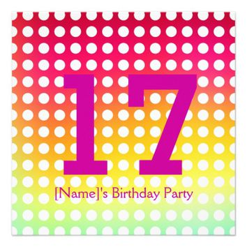 17 Birthday Party Invitation