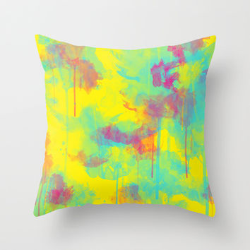 Summer Watercolors Throw Pillow by eDrawings38 | Society6