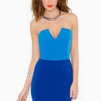 Right Angles Dress in Colorblock