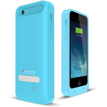 Alpatronix BX120plus Apple MFi Certified Extended Protective Battery Case for iPhone 5S, 5C & 5 with Ultra Slim Removable Rechargeable External Battery Charging Case and Built-in Stand: iOS 7+ Compatible - 2400mAh Built-in Battery / Slimfit / Lightweight /