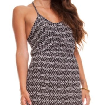 T-Strap Tribal Dress