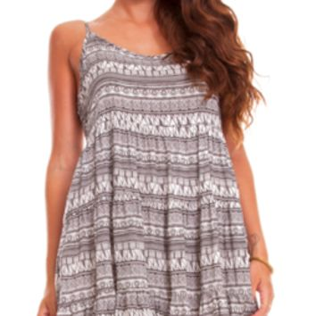 Flirty Tribal Dip Back Dress
