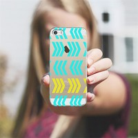 Sunshine Pop and Aqua Zig Zag - Transparent/clear iPhone 5s case by Lisa Argyropoulos | Casetify
