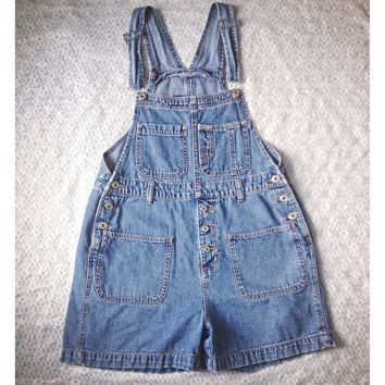 Vintage Denim Overalls (Shorts)