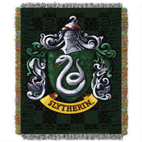 Exclusive Slytherin Crest Tapestry Throw | HarryPotterShop.com