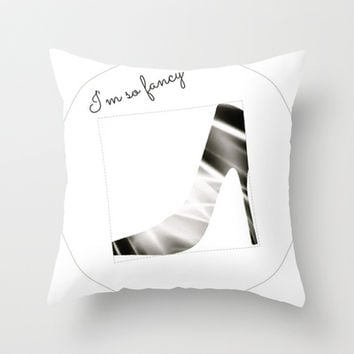 Fancy Throw Pillow by Laura Santeler