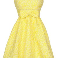 Lily Boutique Bright Yellow Sundress, Cute Bright Yellow Bow Dress, Cute Sundress, Cute Spring Dress, Cute Juniors Dress, Bright Yellow Bridesmaid Dress, Here Comes The Sun Bow Front Bright Yellow Designer Sundress Lily Boutique