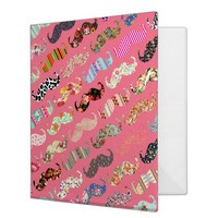 Funny Girly Colorful Pink Aztec Patterns Mustaches