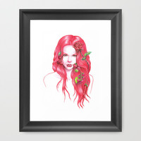 Red Wine Framed Art Print by eDrawings38 | Society6