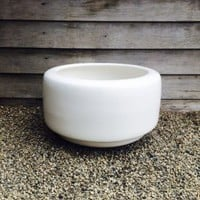 Huge Mid Century Modern Vintage Tire Pot Or Planter By Architectural Pottery
