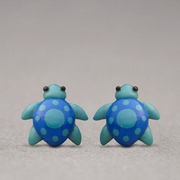 Sea Turtle Earrings - Beach Accessories, Animal Jewelry, Handmade Gifts
