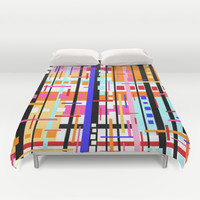 Party at Stripe's House Duvet Cover by k_c_s | Society6