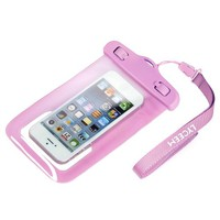 """Lyceem Underwater Waterproof Case Pouch For Iphone 4 4s 5 5C Susung I9100 Nokia 920 Cover Skin Protector Fits All Phone's Screen Smaller Than 4.5""""(Pink)"""