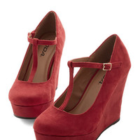 ModCloth Vintage Inspired The Funk Never Ends Wedge