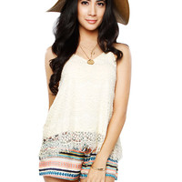 Papaya Clothing Online :: LACY TRIM HALTER TOP