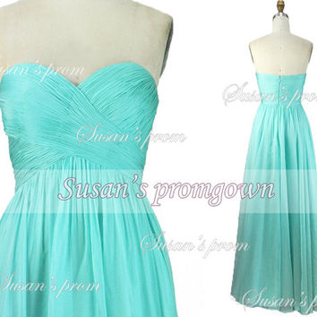 2014 Prom Dress,Strapless Chiffon Dress, Prom Dress,Evening Dress,Wedding gown,Party Dress,Bridesmaid Dress,formal dress