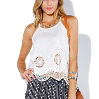 Papaya Clothing Online :: CROCHET CAMI TOP
