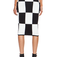 10 CROSBY DEREK LAM | Pencil Viscose-Blend Skirt in Black www.FORWARDbyelysewalker.com