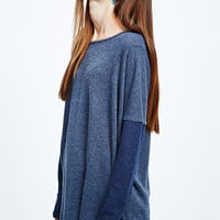 BDG Denim-Look Oversize Sweater in Blue - Urban Outfitters