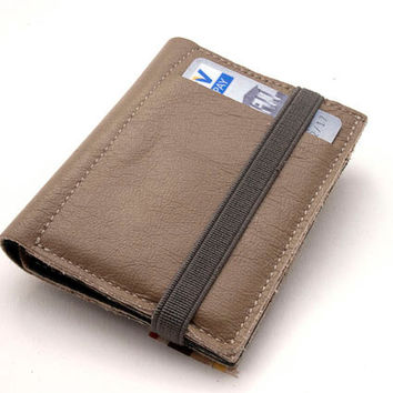 GRAY & BLACK, Leather handmade wallets, Small leather wallet