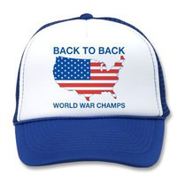 Back to Back World War Champs America Hat from Zazzle.com