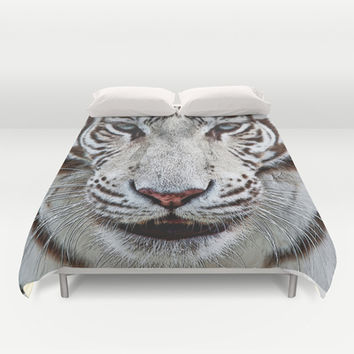 BLUE-EYED BOY Duvet Cover by Catspaws | Society6