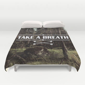 Take a breath Duvet Cover by Nicklas Gustafsson