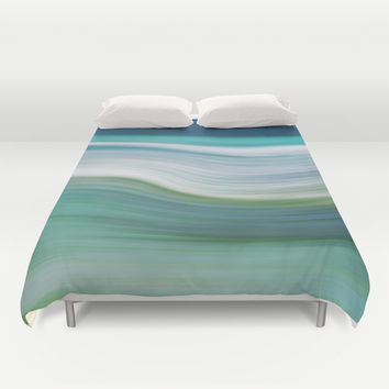 OCEAN ABSTRACT Duvet Cover by Catspaws | Society6