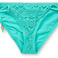 Reef Easy Breezy Crochet Turquoise Tunnel Tie Bikini Bottom at Zumiez : PDP