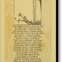 Alone A Poem By Edgar Allan Poe Canvas Print