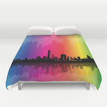 Urban Rhythm Duvet Cover by Texnotropio