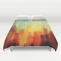 Urban sunset Duvet Cover by SensualPatterns