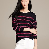 Pieced Stripe Pullover