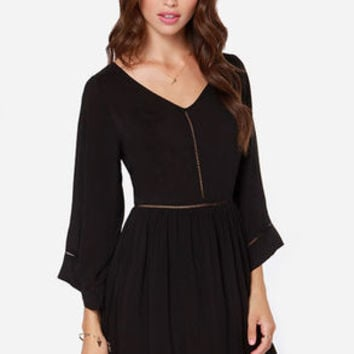 Stargazer Black Long Sleeve Dress