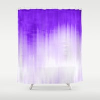 Purple Shower Curtain by Ornaart