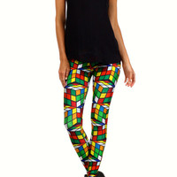 Rubik's Cube Leggings